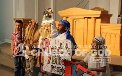 Children's Group Hosts Biblical Play