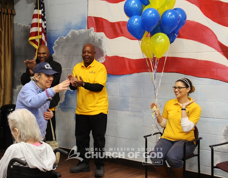 World Mission Society Church of God, veterans, visit, smile campaign, citizens, war, home